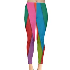Colorful Lines Pattern Leggings