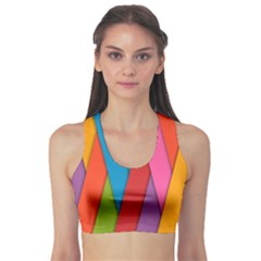 Colorful Lines Pattern Sports Bra