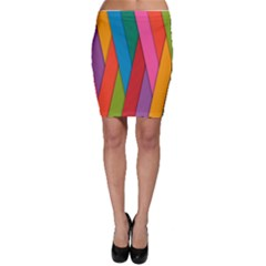 Colorful Lines Pattern Bodycon Skirt