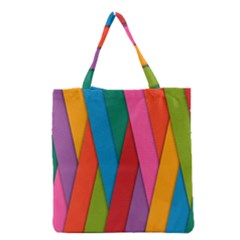 Colorful Lines Pattern Grocery Tote Bag