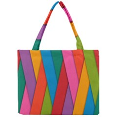 Colorful Lines Pattern Mini Tote Bag