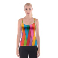 Colorful Lines Pattern Spaghetti Strap Top