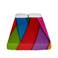 Colorful Lines Pattern Fitted Sheet (Full/ Double Size)
