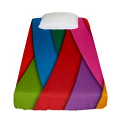 Colorful Lines Pattern Fitted Sheet (Single Size)
