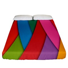 Colorful Lines Pattern Fitted Sheet (King Size)