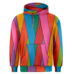 Colorful Lines Pattern Men s Pullover Hoodie
