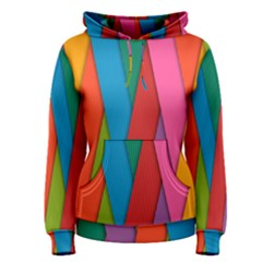 Colorful Lines Pattern Women s Pullover Hoodie