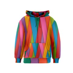 Colorful Lines Pattern Kids  Zipper Hoodie