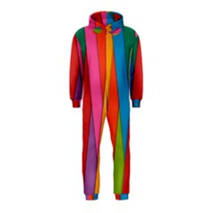 Colorful Lines Pattern Hooded Jumpsuit (Kids)