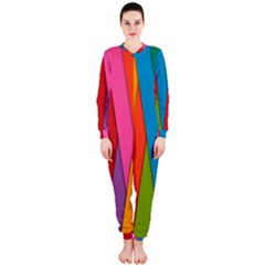 Colorful Lines Pattern OnePiece Jumpsuit (Ladies)