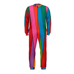Colorful Lines Pattern OnePiece Jumpsuit (Kids)