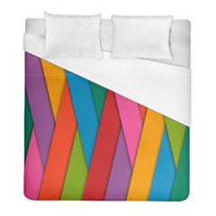 Colorful Lines Pattern Duvet Cover (Full/ Double Size)