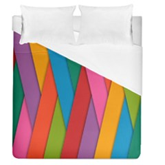 Colorful Lines Pattern Duvet Cover (Queen Size)