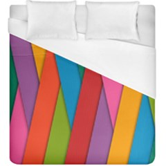 Colorful Lines Pattern Duvet Cover (King Size)