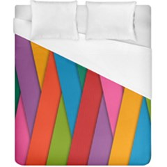 Colorful Lines Pattern Duvet Cover (California King Size)