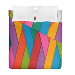 Colorful Lines Pattern Duvet Cover Double Side (Full/ Double Size)