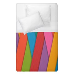 Colorful Lines Pattern Duvet Cover (Single Size)