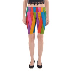 Colorful Lines Pattern Yoga Cropped Leggings