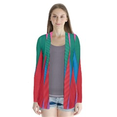 Colorful Lines Pattern Cardigans