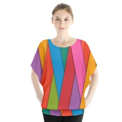 Colorful Lines Pattern Blouse