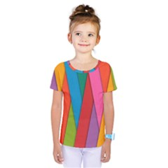 Colorful Lines Pattern Kids  One Piece Tee