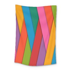 Colorful Lines Pattern Small Tapestry