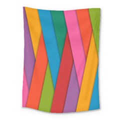 Colorful Lines Pattern Medium Tapestry