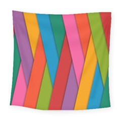 Colorful Lines Pattern Square Tapestry (Large)