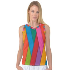 Colorful Lines Pattern Women s Basketball Tank Top