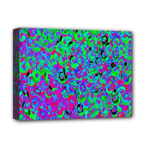 Green Purple Pink Background Deluxe Canvas 16  X 12
