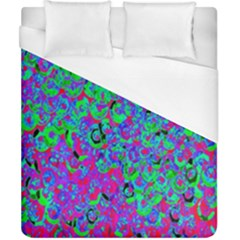 Green Purple Pink Background Duvet Cover (california King Size) by Simbadda