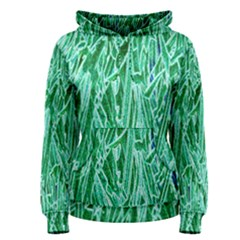 Green Background Pattern Women s Pullover Hoodie by Simbadda