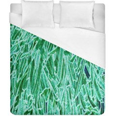Green Background Pattern Duvet Cover (california King Size) by Simbadda