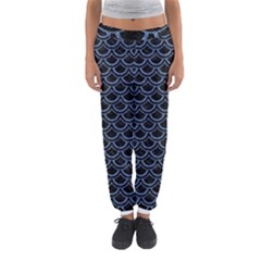 Scales2 Black Marble & Blue Denim Women s Jogger Sweatpants by trendistuff