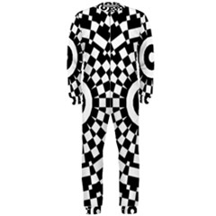 fdf407cc65f4 Checkered Black White Tile Mosaic Pattern Onepiece Jumpsuit (men) by  CrypticFragmentsColors