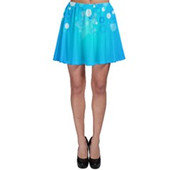 Blue Dot Star Skater Skirt by Simbadda