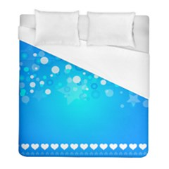 Blue Dot Star Duvet Cover (full/ Double Size) by Simbadda