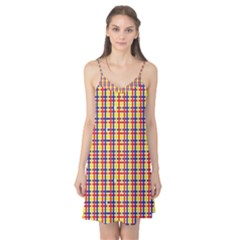 Yellow Blue Red Lines Color Pattern Camis Nightgown by Simbadda