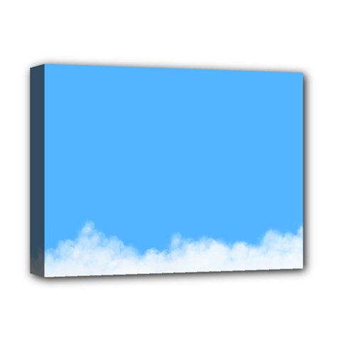 Blue Sky Clouds Day Deluxe Canvas 16  X 12