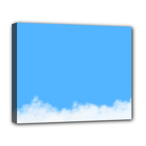 Blue Sky Clouds Day Deluxe Canvas 20  X 16   by Simbadda