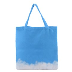 Blue Sky Clouds Day Grocery Tote Bag by Simbadda