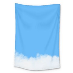 Blue Sky Clouds Day Large Tapestry by Simbadda