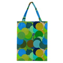 Green Aqua Teal Abstract Circles Classic Tote Bag