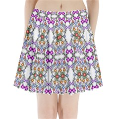 Floral Ornament Baby Girl Design Pleated Mini Skirt by Simbadda