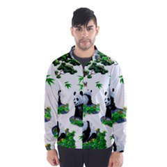 Cute Panda Cartoon Wind Breaker (men) by Simbadda