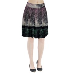 Sky Landscape Nature Clouds Pleated Skirt