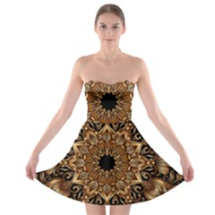 3d Fractal Art Strapless Bra Top Dress