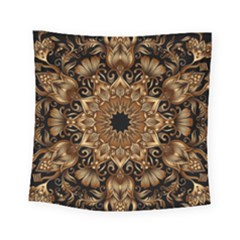 3d Fractal Art Square Tapestry (small) by Simbadda