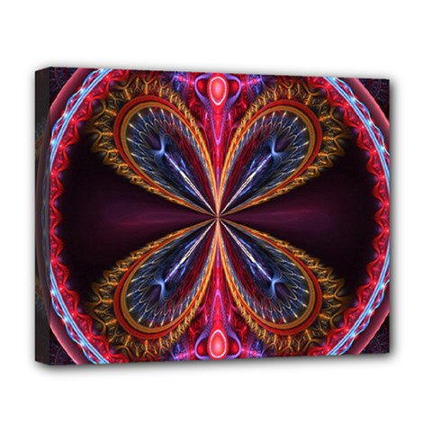 3d Abstract Ring Deluxe Canvas 20  X 16   by Simbadda