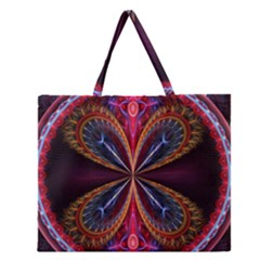 3d Abstract Ring Zipper Large Tote Bag by Simbadda